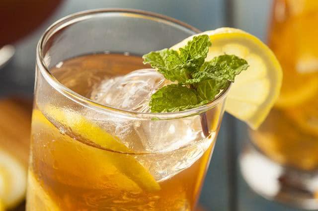 Imagem de copo de chá gelado